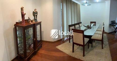 apartamento com 3 dormitórios para alugar, 200 m² por r$ 1.500,00/mês - centro - são josé do rio preto/sp - ap0584