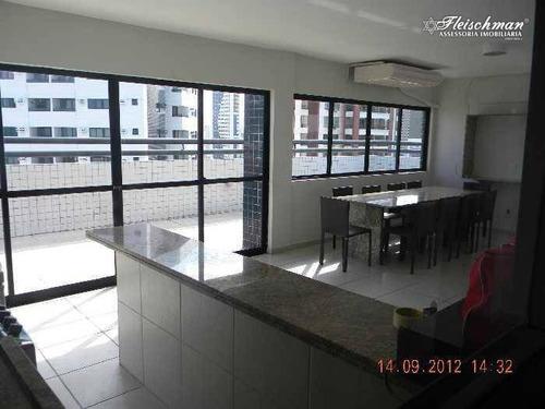 apartamento com 3 dormitórios para alugar, 63 m² - espinheiro - recife/pe - ap1618
