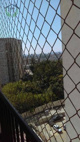 apartamento com 3 dormitórios para alugar, 65 m² por r$ 1.400/mês - umuarama - osasco/sp - ap3503