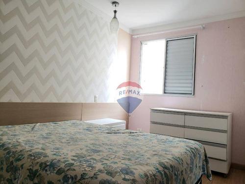 apartamento com 3 dormitórios para alugar, 65 m² por r$ 2.199/mês - vila mogilar - mogi das cruzes/sp - ap0220
