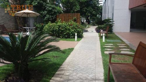 apartamento com 3 dormitórios para alugar, 65 m² por r$ 2.300/mês - torre - recife/pe - ap3358