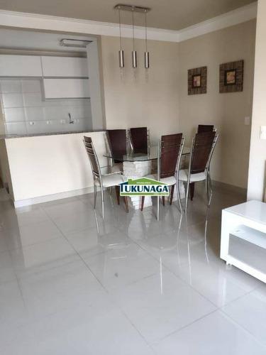 apartamento com 3 dormitórios para alugar, 68 m² por r$ 1.500/mês - vila galvão - guarulhos/sp - ap2370