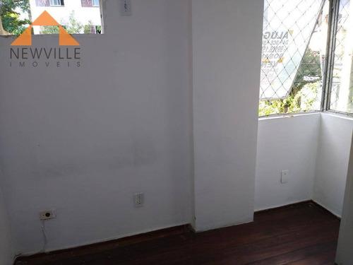 apartamento com 3 dormitórios para alugar, 70 m² por r$ 920/mês - boa viagem - recife/pe - ap1729