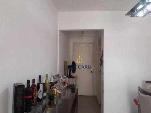 apartamento com 3 dormitórios para alugar, 75 m² por r$ 1.700,00/mês - vila augusta - guarulhos/sp - ap14412
