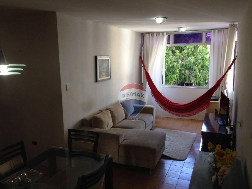 apartamento com 3 dormitórios para alugar, 78 m² por r$ 1.600,00/mês - boa viagem - recife/pe - ap0954