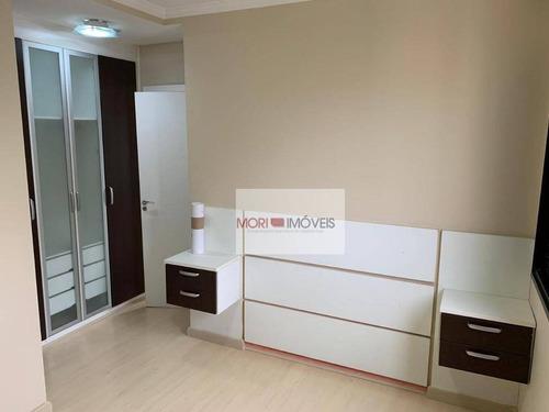 apartamento com 3 dormitórios para alugar, 89 m² por r$ 3.750/mês - vila romana - são paulo/sp - ap2454