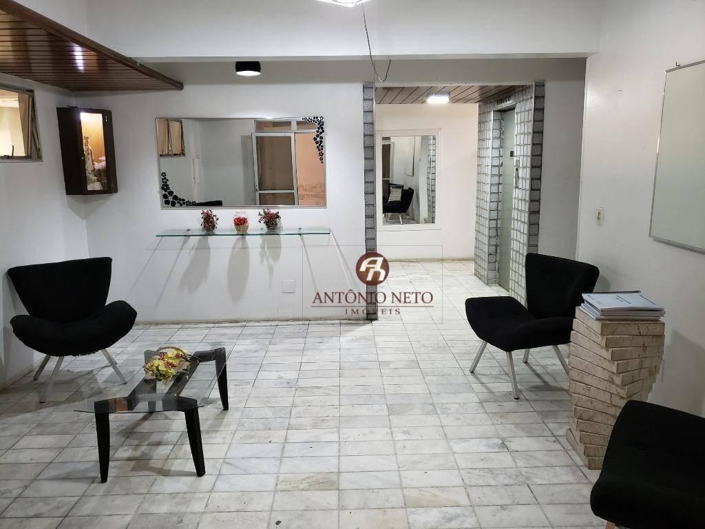 apartamento com 3 dormitórios reformado à venda, 106 m² por r$ 220.000 - centro - fortaleza/ce - ap0429