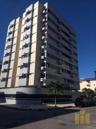 apartamento com 3 dormitórios à venda, 100 m² por r$ 300.000 - jatiúca - maceió/al - ap0457