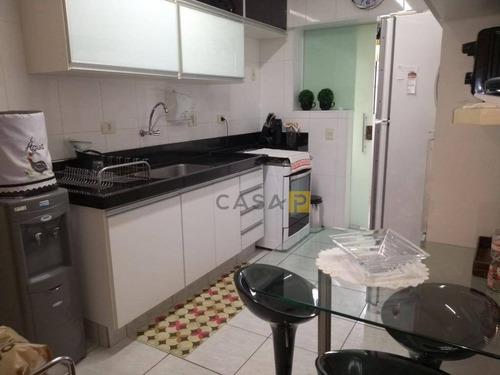 apartamento com 3 dormitórios à venda, 100 m² por r$ 450.000 - jardim santana - americana/sp - ap0408