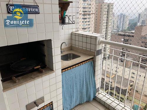 apartamento com 3 dormitórios à venda, 100 m² por r$ 690.000 - campestre - santo andré/sp - ap10277