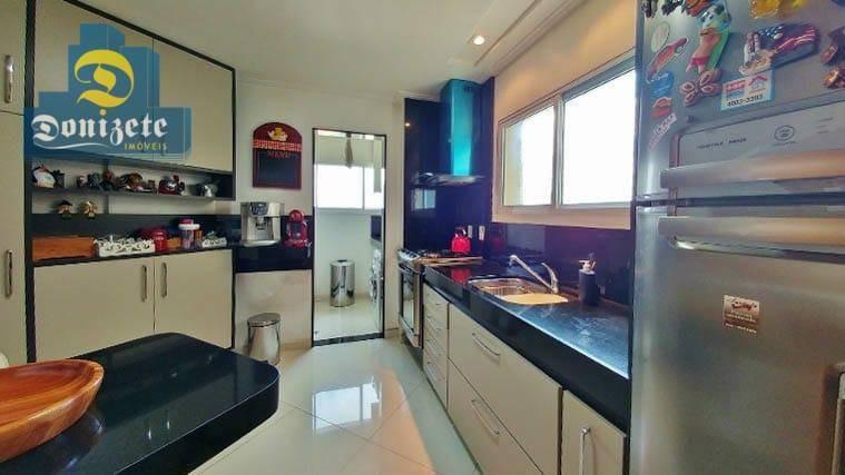 apartamento com 3 dormitórios à venda, 102 m² por r$ 754.000,10 - jardim - santo andré/sp - ap9016
