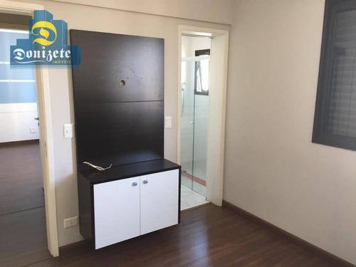apartamento com 3 dormitórios à venda, 105 m² por r$ 500.000 - vila bastos - santo andré/sp - ap5619