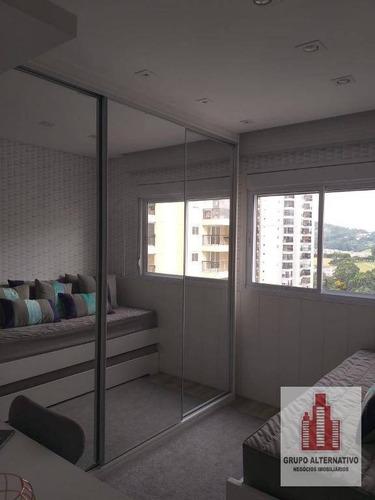 apartamento com 3 dormitórios à venda, 106 m² por r$ 699.000 - picanco - guarulhos/sp - ap1051