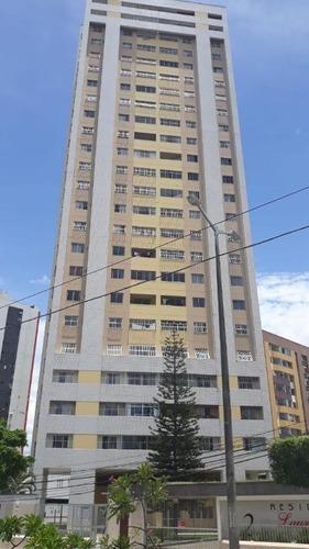 apartamento com 3 dormitórios à venda, 108 m² por r$ 480.000 - fátima - fortaleza/ce - ap3764
