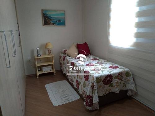 apartamento com 3 dormitórios à venda, 108 m² por r$ 630.000,00 - campestre - santo andré/sp - ap0728