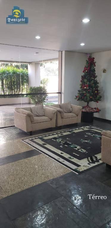 apartamento com 3 dormitórios à venda, 110 m² por r$ 525.000,00 - jardim bela vista - santo andré/sp - ap4876