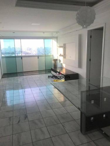 apartamento com 3 dormitórios à venda, 110 m² por r$ 700.000,00 - santa maria - são caetano do sul/sp - ap2100