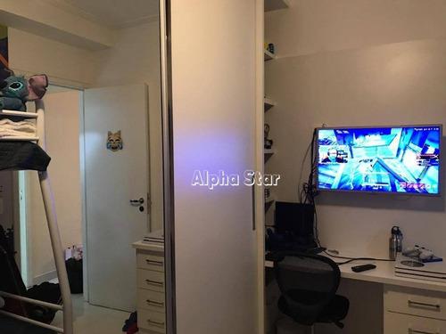 apartamento com 3 dormitórios à venda, 110 m² por r$ 800.000,00 - alpha vita - santana de parnaíba/sp - ap1748