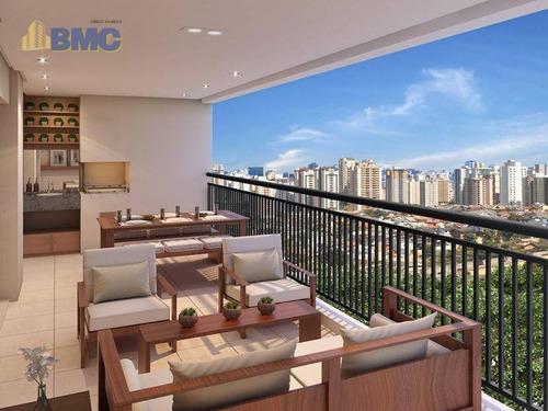 apartamento com 3 dormitórios à venda, 112 m² por r$ 1.270.000 - vila dom pedro ii - são paulo/sp - ap3457