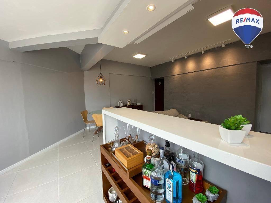 apartamento com 3 dormitórios à venda, 112 m² - umarizal - belém/pa - ap0542