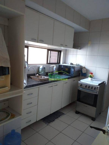 apartamento com 3 dormitórios à venda, 117 m² por r$ 850.000 - jaqueira - recife/pe - ap1350