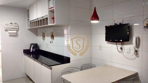 apartamento com 3 dormitórios à venda, 118 m² por r$ 630.000 - várzea - teresópolis/rj - ap0063