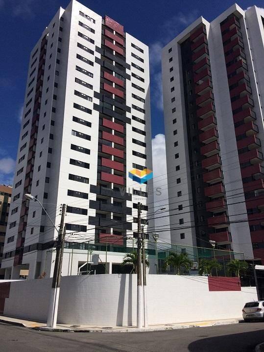 apartamento com 3 dormitórios à venda, 120 m² por r$ 565.000 - farol - maceió/al - ap0445