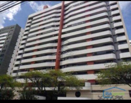 apartamento com 3 dormitórios à venda, 120 m² por r$ 650.000 - jardins - aracaju/se - ap1303