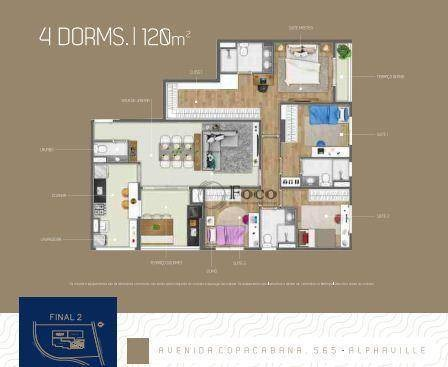 apartamento com 3 dormitórios à venda, 120 m² por r$ 914.990 - empresarial 18 do forte - barueri/sp - ap0863