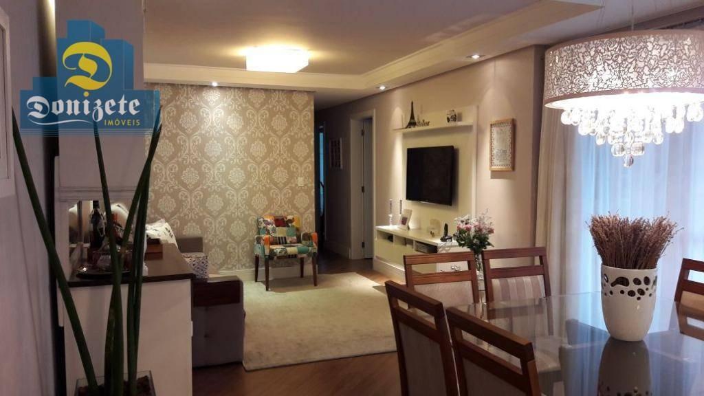 apartamento com 3 dormitórios à venda, 122 m² por r$ 800.000,01 - jardim - santo andré/sp - ap8070