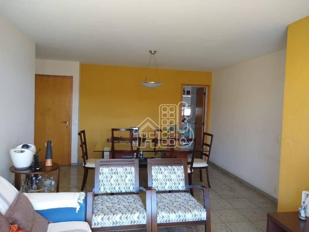 apartamento com 3 dormitórios à venda, 122 m² por r$ 980.000,00 - icaraí - niterói/rj - ap2831