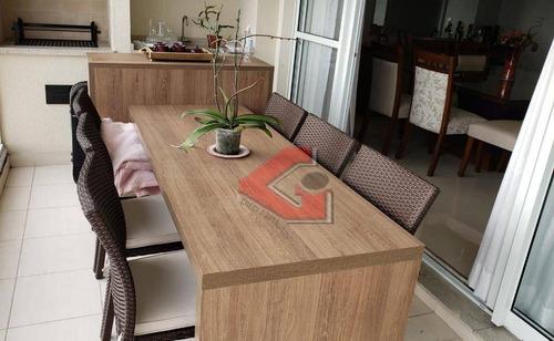 apartamento com 3 dormitórios à venda, 123 m² por r$ 800.000 - centro - são bernardo do campo/sp - ap2814