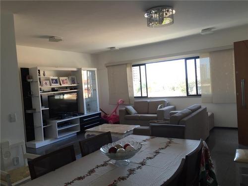apartamento com 3 dormitórios à venda, 124 m² por r$ 480.000 - aldeota - fortaleza/ce - ap1400