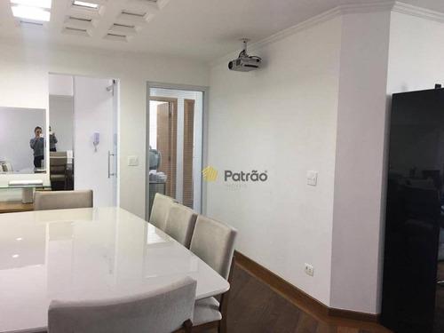 apartamento com 3 dormitórios à venda, 126 m² por r$ 600.000 - parque são diogo - são bernardo do campo/sp - ap2341