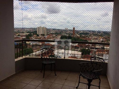 apartamento com 3 dormitórios à venda, 130 m² por r$ 450.000 - campos elíseos - ribeirão preto/sp - ap0943