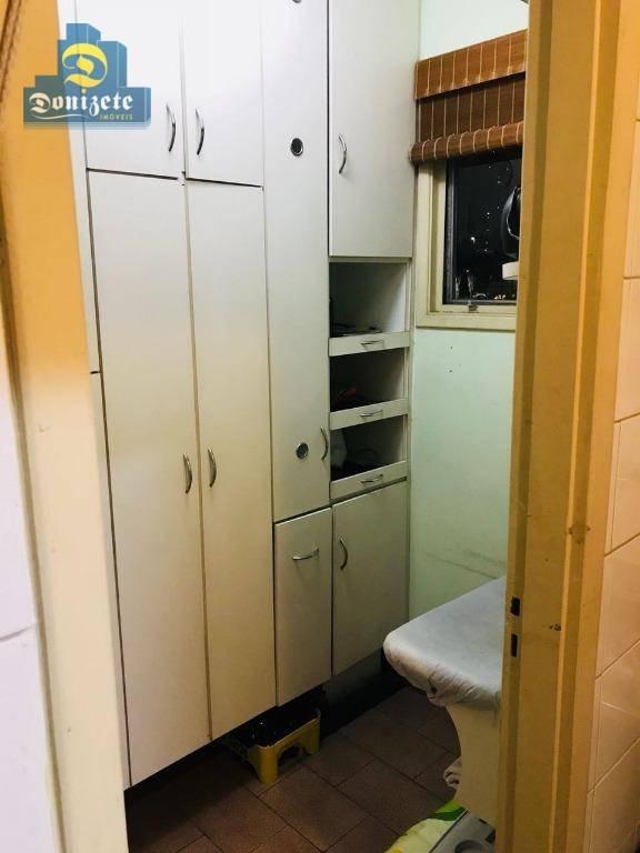 apartamento com 3 dormitórios à venda, 130 m² por r$ 530.000,00 - jardim - santo andré/sp - ap8726