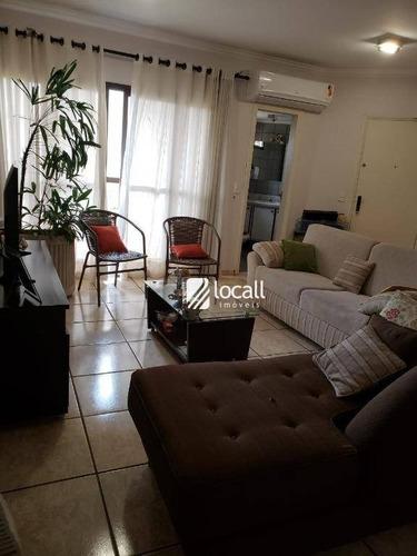 apartamento com 3 dormitórios à venda, 132 m² por r$ 430.000 - boa vista - são josé do rio preto/sp - ap1590