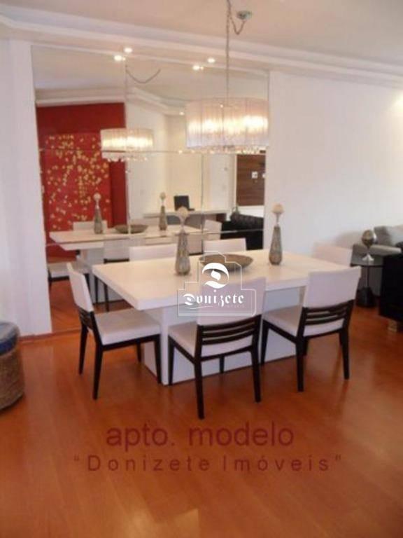 apartamento com 3 dormitórios à venda, 133 m² por r$ 645.000,00 - vila assunção - santo andré/sp - ap0106