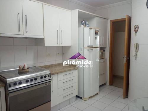 apartamento com 3 dormitórios à venda, 133 m² por r$ 890.000 - vila adyana - são josé dos campos/sp - ap10755