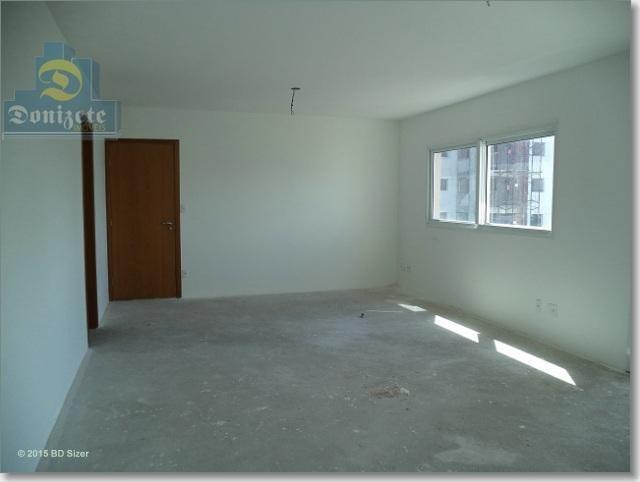 apartamento com 3 dormitórios à venda, 138 m² por r$ 550.000,10 - vila valparaíso - santo andré/sp - ap0600