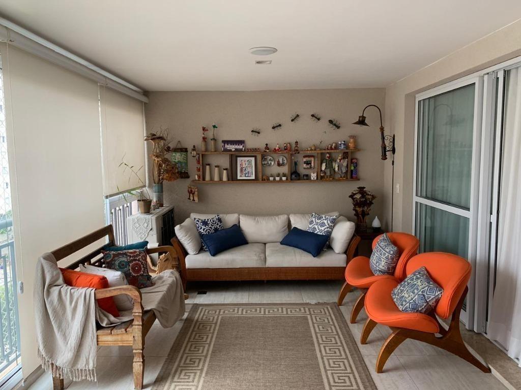 apartamento com 3 dormitórios à venda, 140 m² por r$ 1.410.000,00 - ipiranga - são paulo/sp - ap8494
