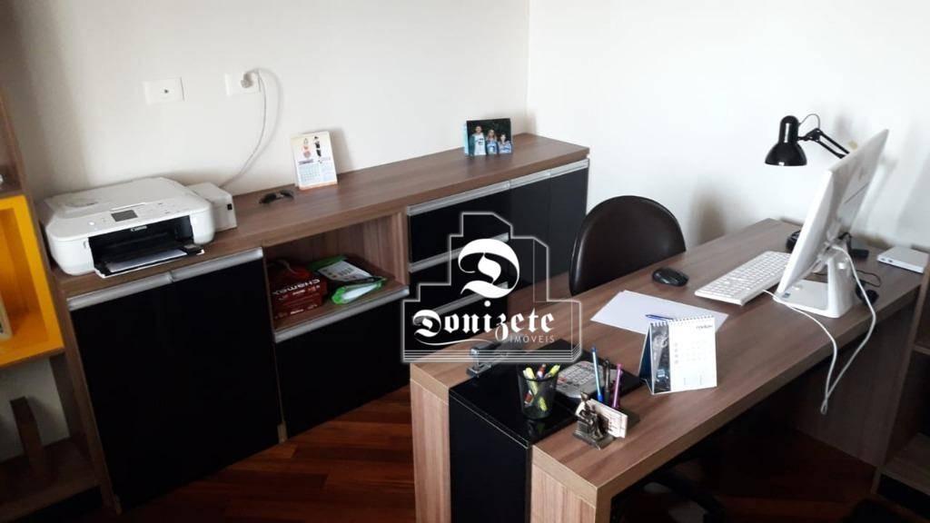 apartamento com 3 dormitórios à venda, 140 m² por r$ 865.000,00 - campestre - santo andré/sp - ap11751