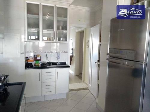 apartamento com 3 dormitórios à venda, 144 m² por r$ 850.000 - vila milton - guarulhos/sp - ap3407