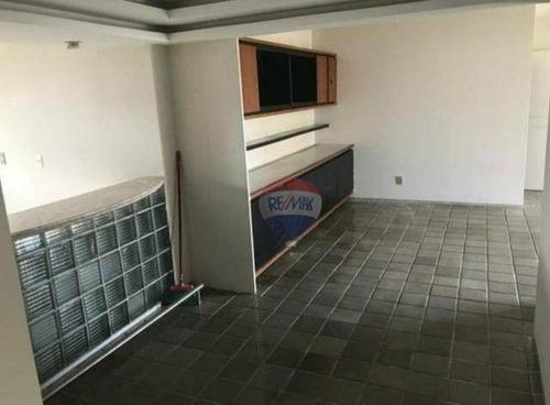 apartamento com 3 dormitórios à venda, 145 m² por r$ 495.000 - espinheiro - recife/pe - ap0549