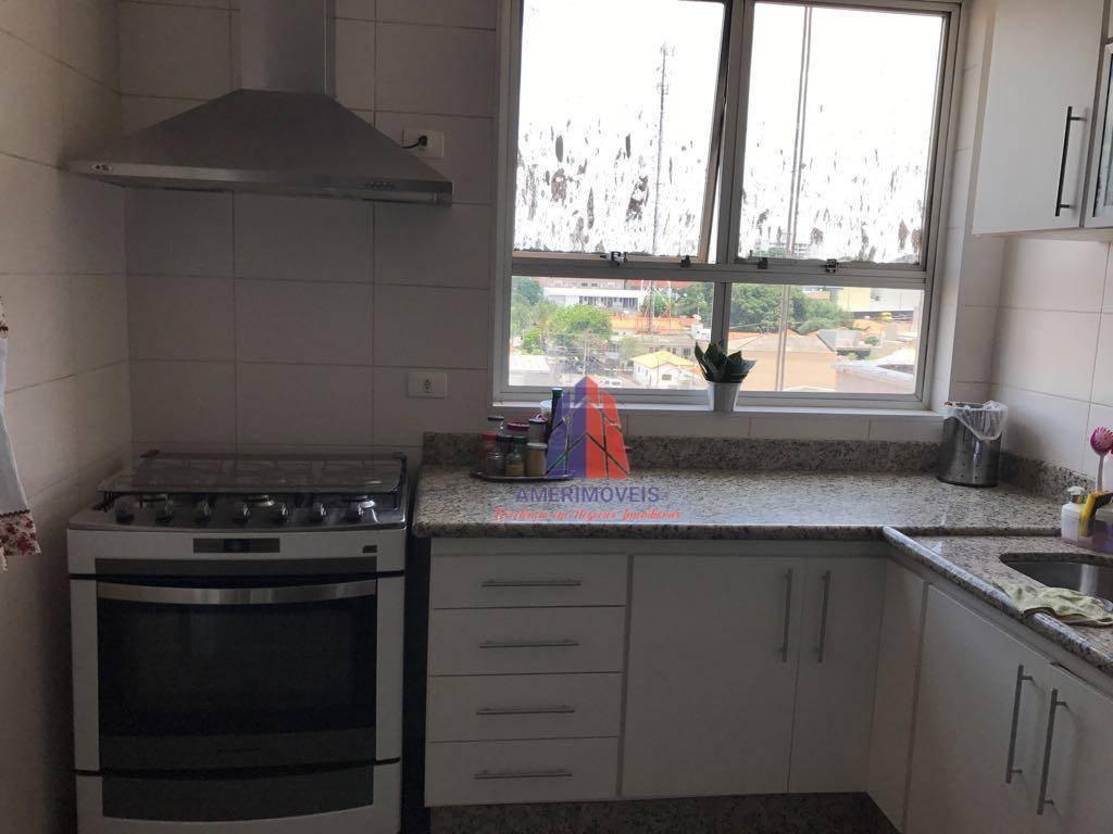 apartamento com 3 dormitórios à venda, 145 m² por r$ 750.000 - edifício almirante tamandaré - vila santa catarina - americana/sp - ap0447