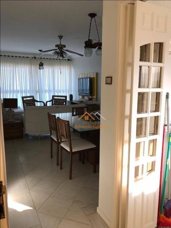 apartamento com 3 dormitórios à venda, 146 m² por r$ 795.000,00 - praia cocanha - caraguatatuba/sp - ap0214