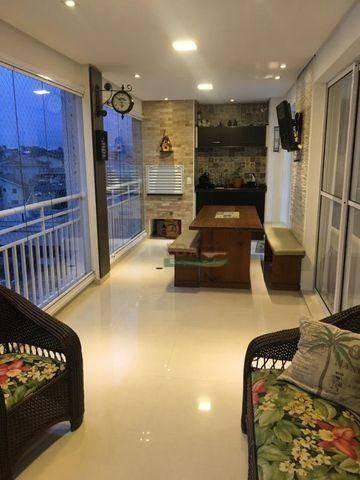 apartamento com 3 dormitórios à venda, 148 m² por r$ 869.000 - vila nova socorro - mogi das cruzes/sp - ap4516