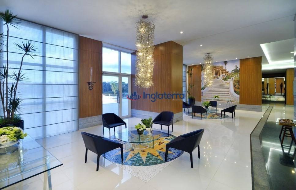 apartamento com 3 dormitórios à venda, 151 m² por r$ 950.000,00 - gleba palhano - londrina/pr - ap0686