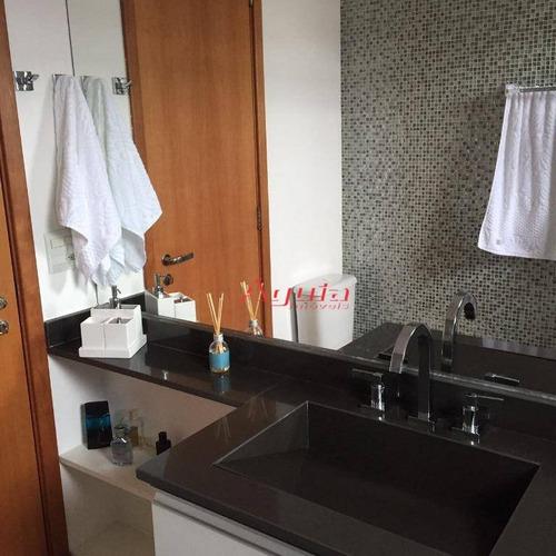 apartamento com 3 dormitórios à venda, 153 m² por r$ 1.275.000 - campestre - santo andré/sp - ap1688