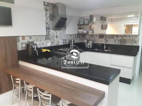apartamento com 3 dormitórios à venda, 165 m² por r$ 1.250.000 - campestre - santo andré/sp - ap11574